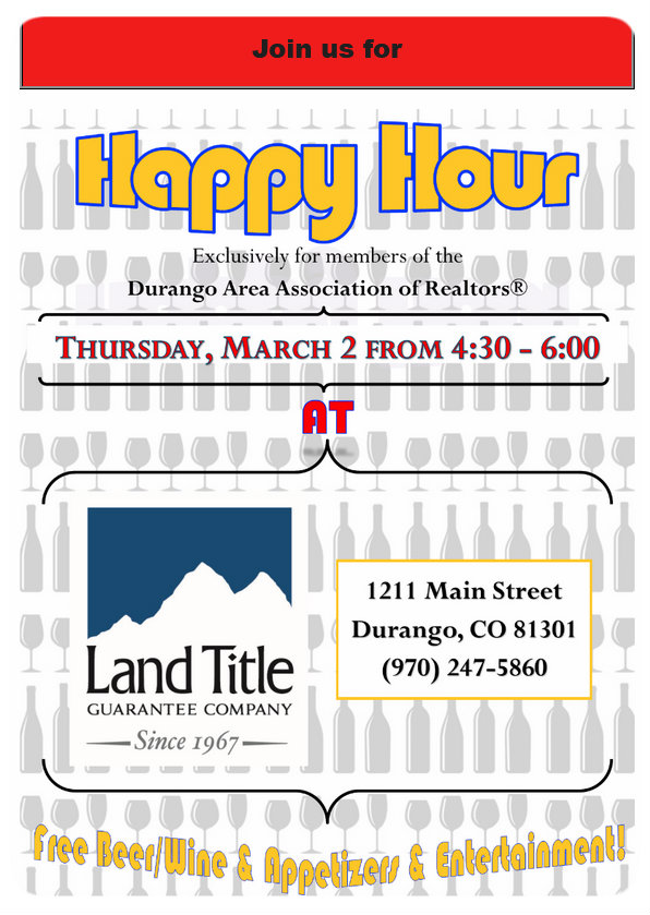 Join us for 1st Happy Hour